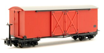 Covered Goods Wagon in Lincolnshire Coast Light Railway Crimson livery